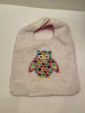 Baby Girl Owl Bib