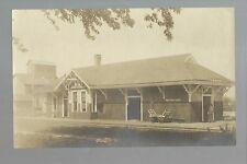 Princeton IOWA RP c1910 DEPOT Train Station nr Le Claire Davenport Clinton RARE!
