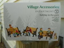 Dept 56 General Village Accessories Holiday In The Park + Benches Included Nib