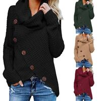 Women's Jumper Sleeve Long Tops Sweater Knitted Winter Knitwear Cardigan Outwear