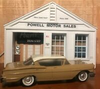 PMC 1958 CHEVROLET  4DR HT PROMO FRICTION WHITE/DARK BEIGE 1/25 Scale NO BOX