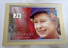 Royal Mail Post Card 40th Anniversary of Ascension PHQ 141e 24p Queen Elizabeth