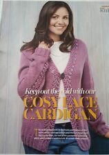 Femmes Dentelle Cardigan Knitting Pattern. par LET'S Tricot magazine
