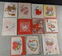 Lot of 11 Vintage 1940's Valentine's Day Cards