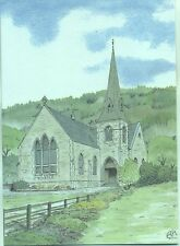 The Black Sheep Arrochar Church Tarbet Scotland Annesley Hudson art postcard