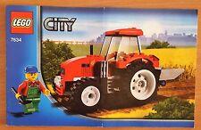 LEGO 7634 City Heft 1 ,Traktor / Trecker  NUR Bauanleitung -  Instruction Only