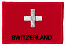 Badge Badge Patch Swiss Patch Switzerland 70 x 1 25/32in Sew-On Embroidered