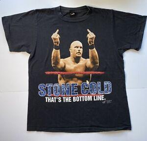 Vintage Stone Cold Steve Austin Shirt 1998 Titan Sports WWF Size Large 90s Tee