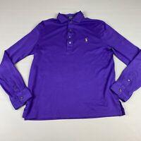 Polo Ralph Lauren Pima Soft Touch  Purple Long Sleeve POLO Shirt M Men's