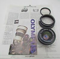 Olympus OM Zuiko AUTO-S 50mm f/1.8 for OM-1, OM-2, OM-4 OMG OM-10