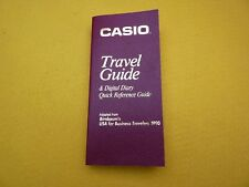 Casio Travel Guide Business travelers 1990 Diary 515 pages ç