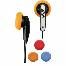 New NERF N-Strike COLOR BLAST EARBUDS Work With All Music Players HEADPHONES