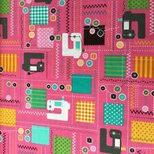 Novelty 'Cut & Sew' Little Present Company Sewing Machine  Fabric Fat Quarter