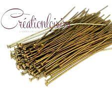 50 Clous / Tiges à tête plate - Long. 50 mm - Couleur bronze