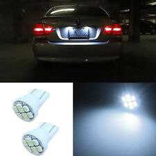 2Pcs LED White T10 W5W Number License Plate Light Bulbs For Nissan X-Trail 05-06