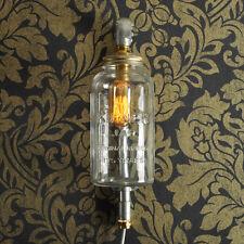 BARTHOLOMEW Plug in Wall Light. 20% VAT inc. Industrial KILNER JAR CE MARKED