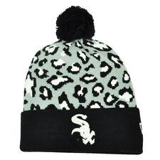 MLB New Era Winter Jungle Chicago White Sox Cheetah Knit Beanie Cuffed Toque Hat