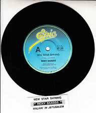 "RICKY SKAGGS  New Star Shining 7"" 45 rpm record NEW RARE! + jukebox title strip"