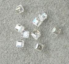 12 Swarovski 8mm Loose Beads #5601 CUBES - CRYSTAL MOONLIGHT AB- Bridal/Wedding