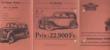 ✇ Original Preisliste price list SINGER Automobile von ca. 1935 Bantam Douze