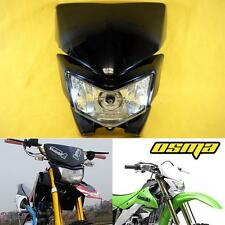 Black Racing Motorcycle Headlight Fairing Streetfighter Enduro Cross Universal