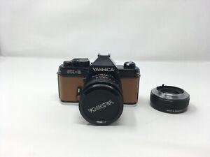 Yashica ML 50mm 1.4 lens & Yashica FX-3 camera -2x converter
