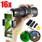 16x52 Zoom Dual Focusing Monocular Telescope Lens Camera HD Scope Phone Holder