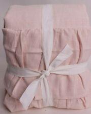 Pottery Barn Kids Evelyn Ruffle Bottom Blackout Curtain Panel 44x84, blush pink