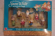 Vintage Mattel Disney Snow White and the Seven Dwarfs Action Figure Set Nib