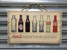 Coca-Cola Contour Bottle Evolution History Wooden Sign