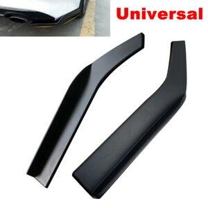 Universal Car Bumper Spoiler Anti-crash Rear Lip Angle Splitter Diffuser Black