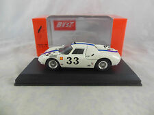 Best Model 9222 Ferrari 250 LM Sebring 1966 In White/Blue Racing No 33 Swanson