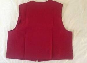 Unisex Vest 3 Pocket w/tabs Imperial Twil Uniform Apron Cashier Worker M to 5X