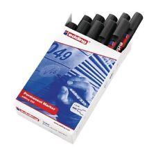 EDDING MARKER CHISEL BLACK 330 Chisel tip - Pack of 10 - FREE P&P