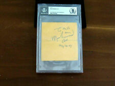 MUHAMMAD ALI MAY 26,97 CASSIUS CLAY BOXING HOF SIGNED AUTO VINTAGE CUT BECKETT