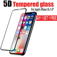 Fit For Apple iPhone X/XS 10D Full Cover Curved Tempered Glass Screen Protector