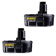 DEWALT 2.4AH NICAD NI-CAD 18V BATTERY POST TYPE 2 PACK NEW WARRANTY