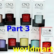 CND Shellac Polish Gel Color Base Top Coat /Choose Any Color PART 3*