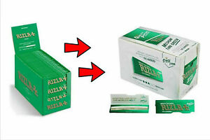 Rizla Green Cigarette Smoking Rolling Papers Made in Belgium 100% Genuine 1-100