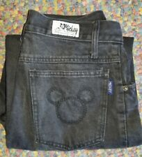 Disney Mickey Mouse High Waist Mom Jeans Sz 11 Tapered Vtg 90s Jerry Leigh #3144