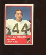 1963 Fleer Football Card #64 Bob Dougherty SP NRMT