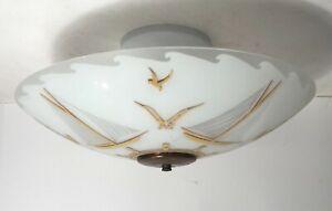 Antique frosted nautical glass Moe Lights flush mount ceiling light fixture