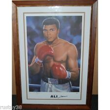 MUHAMMAD ALI HAND SIGNED FRAMED GREATEST LIMITED PRINT ONLINE AUTHENTICS COA