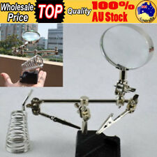 Solder Third Hand Soldering Iron Stand Holder Station Magnifier Helping Len Tool