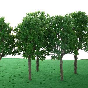 6pcs 1:30 O Scale Plastic Model Trees Train Railroad Park Street Accessory