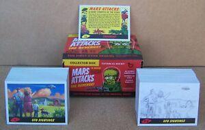 MARS ATTACKS REVENGE TOPPS 2017 SET OF 110 CARD (1-55 & P1-P55) WITH EMPTY BOX