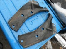 1963 Chevy Impala Belair Biscayne rear bumper to frame brackets, pair orig GM