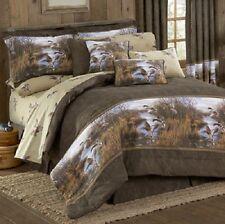 Duck Approach 4 Pc QUEEN Comforter Set - Bedding Lodge Mallard Lake Pond Reeds