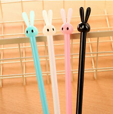 5Pcs Cute Funny Black Ink Roller Ball Point Pens rabbit hare Little Stationery