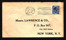 Denmark 1924 Cover to New York (IV) - Z15547